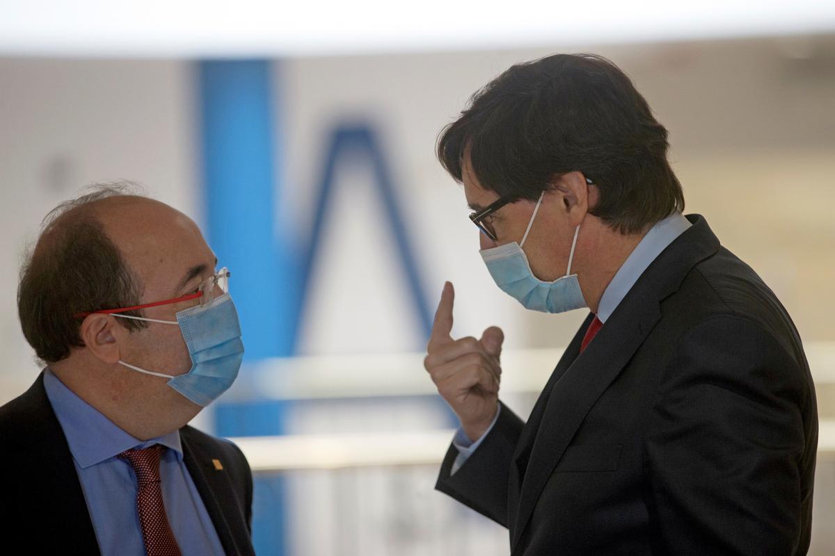 Miquel Iceta y Salvador Illa en una imagen de archivo.