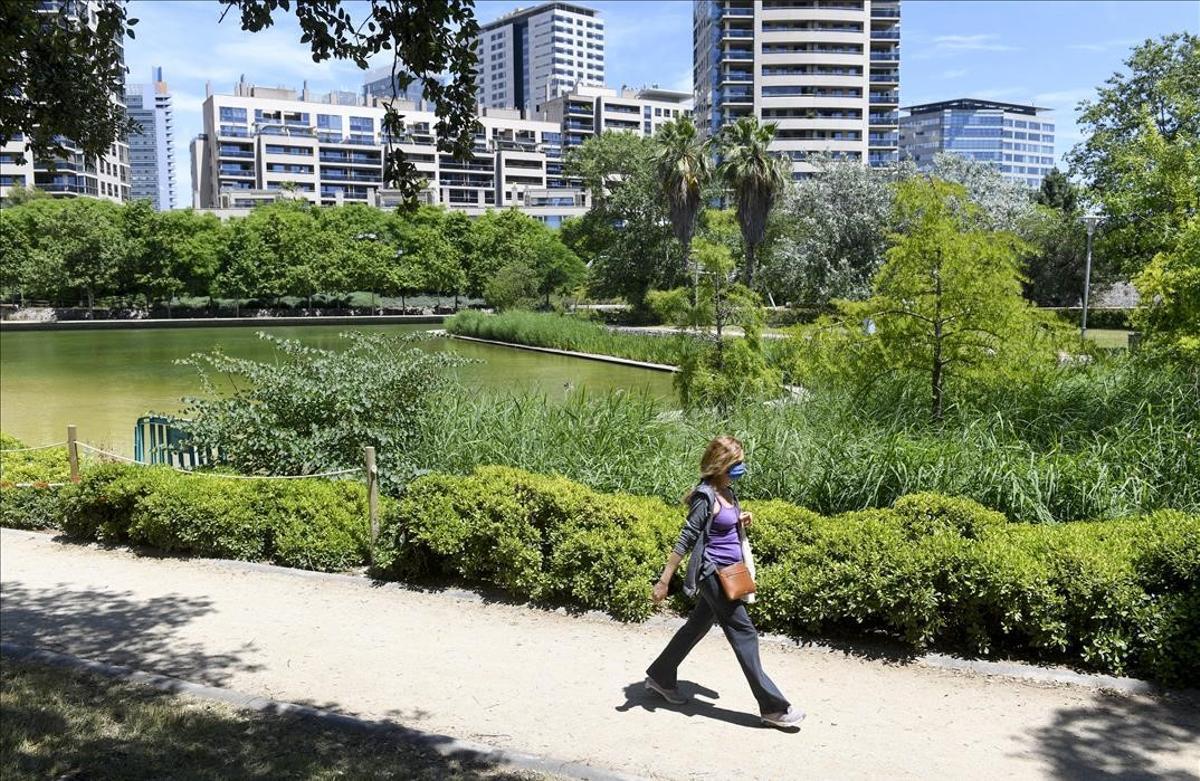 El parque de Diagonal Mar.