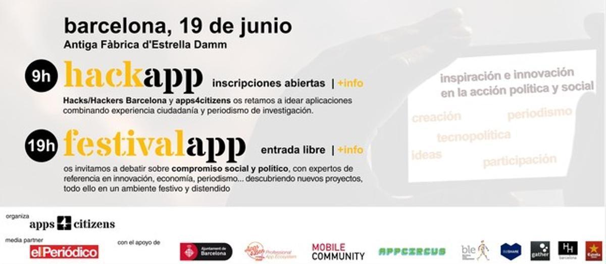 Primer 'festivalapp' en Barcelona organizado por apps4citizens con la colaboración de EL PERIÓDICO