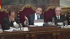 El tribunal que juzga a los líderes del 'procés', presidido por Manuel Marchena.