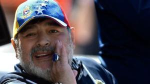 Diego Armando Maradona, el sábado pasado en el Estadio Malvinas Argentinas de Mendoza.