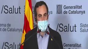 Marc Ramentol y Josep Maria Argimon comentan las restricciones vigentes.