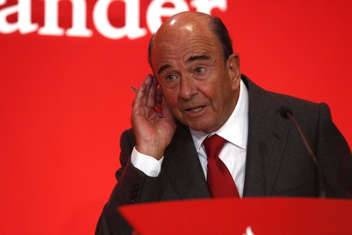 El presidente del Banco Santander, este jueves.