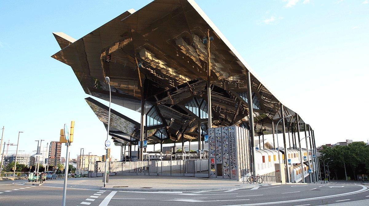 Los nuevos Encants Vells, cerrados durante el confinamiento, el pasado 23 de abril.