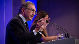 El conseller de Economía y Hacienda, Jaume Giró, interviene en una rueda de prensa posterior a una reunión del Consell Executiu.