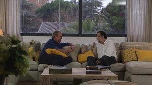 Mariano Rajoy ,con Bertin Osborne, en el programa 'En tu casa o en la mía' de TVE