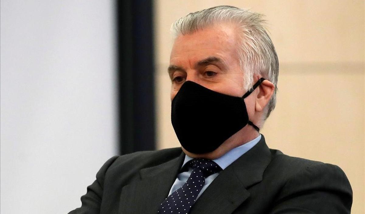 Luis Bárcenas, en el banquillo de los acusados en la Audiencia Nacional.