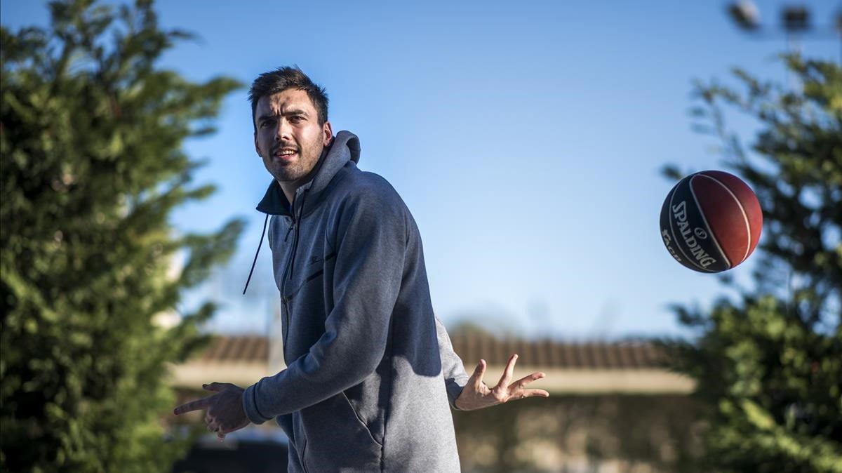 Pierre Oriola, en la ciudad deportiva del Barça.