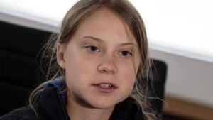 Greta Thunberg, a bordo del catamarán 'La Vagabonde'.