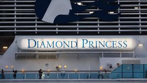 El crucero 'Diamond Princess', atracado en Yokohama en pasado 19 de febrero.