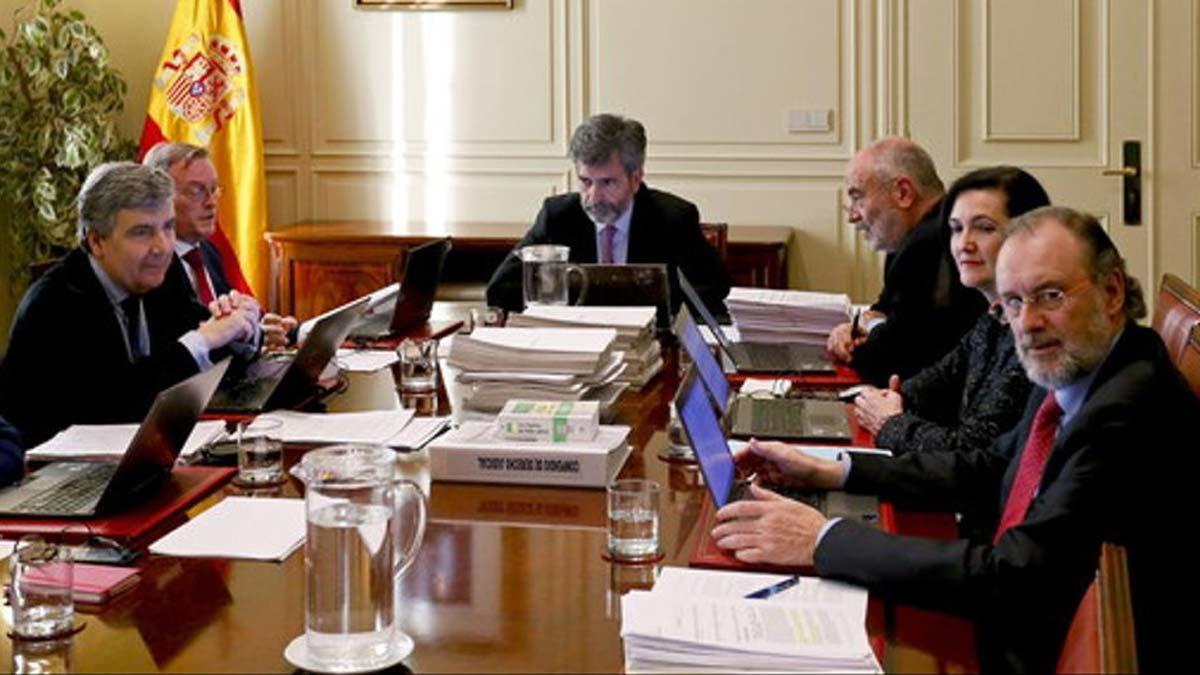 Reunión del CGPJ en Madrid.
