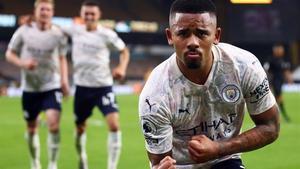 Gabriel Jesus celebra el tercer y definitivo gol del City.