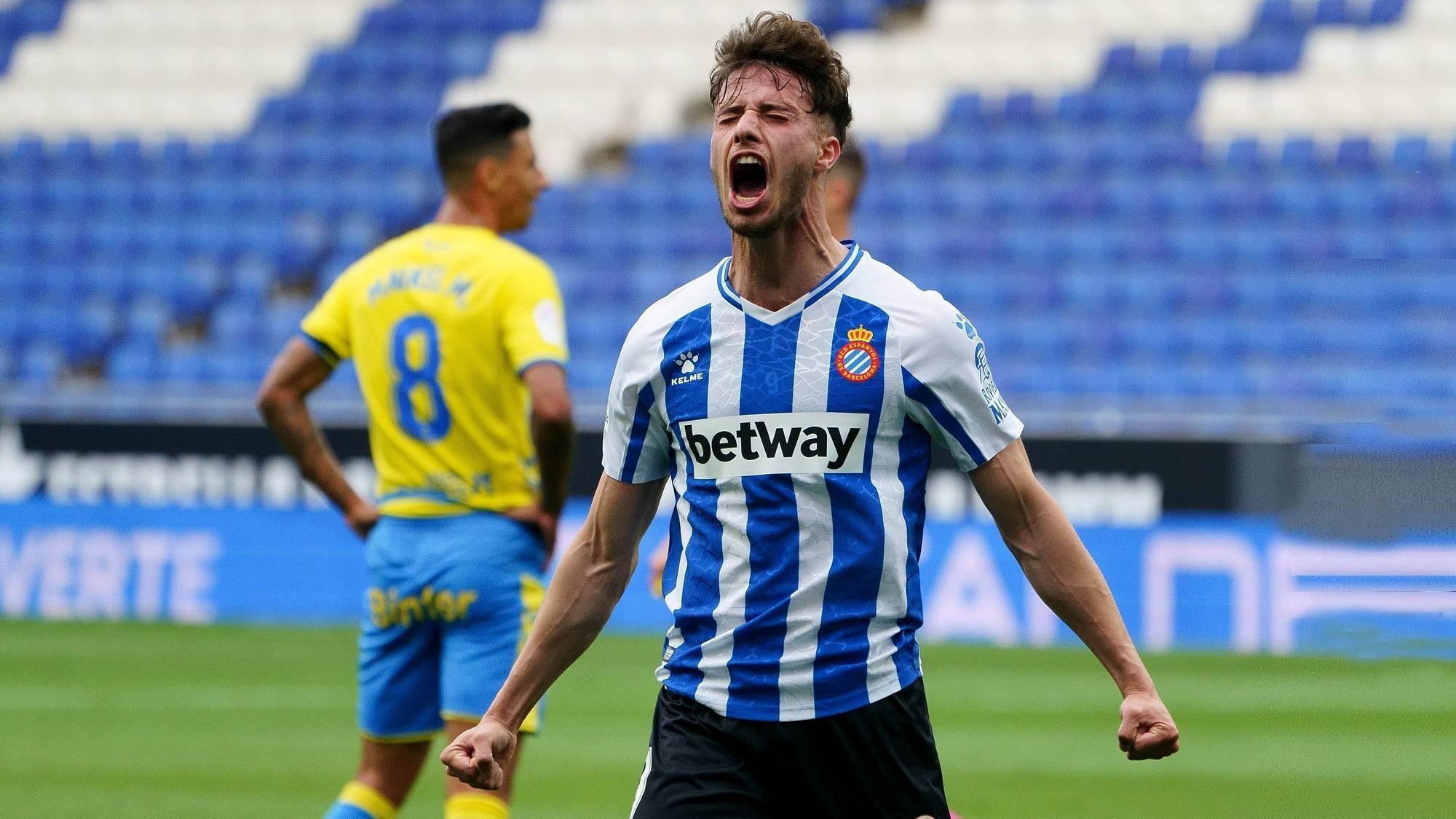 El Espanyol toca el ascenso con las manos tras su victoria ante Las Palmas y puede ser equipo de primera la próxima jornada.