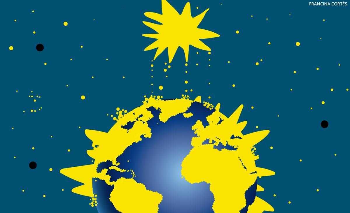 Pols d'estrelles concentrada per la Terra
