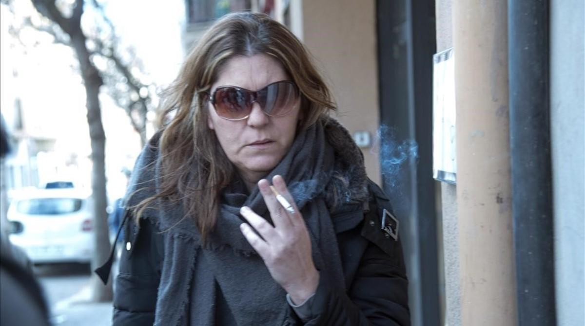 Margarida Garau, el pasado enero, ante el juzgado de La Seu d'Urgell.