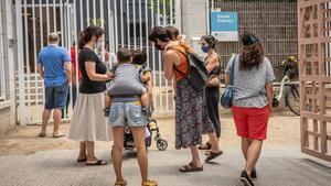 La escuela pública Entença de Barcelona,en junio pasado.