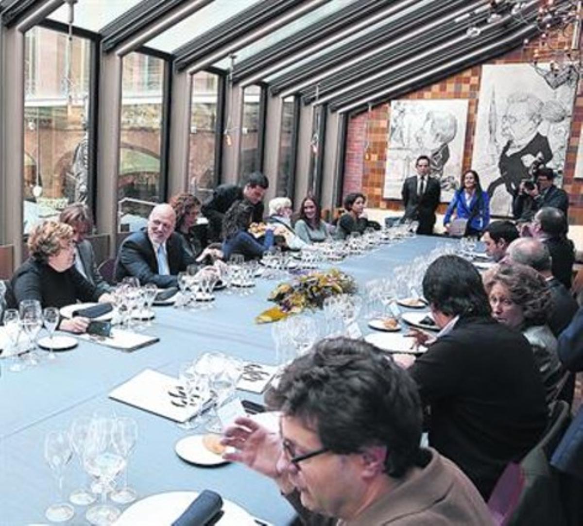 El restaurante Mirador del Palau, ayer en la presentación de su menú.
