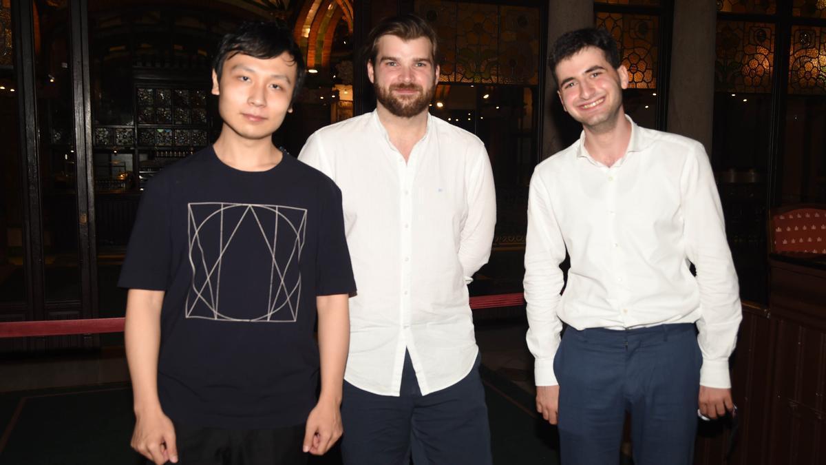 Los tres finalistas de la 66 edición del Concurs Maria Canals.