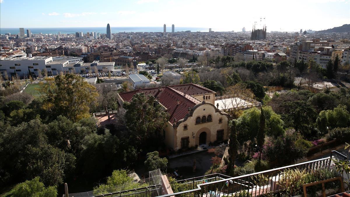 Actual aspecto del jardín, entre la ronda del Guinardó, Cartagena y Mare de Déu de Montserrat.
