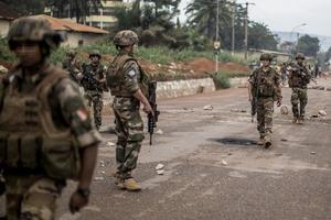 Soldados franceses desplegados en la República Centroafricana en el marco de la operación Sangaris, en mayo del 2014.