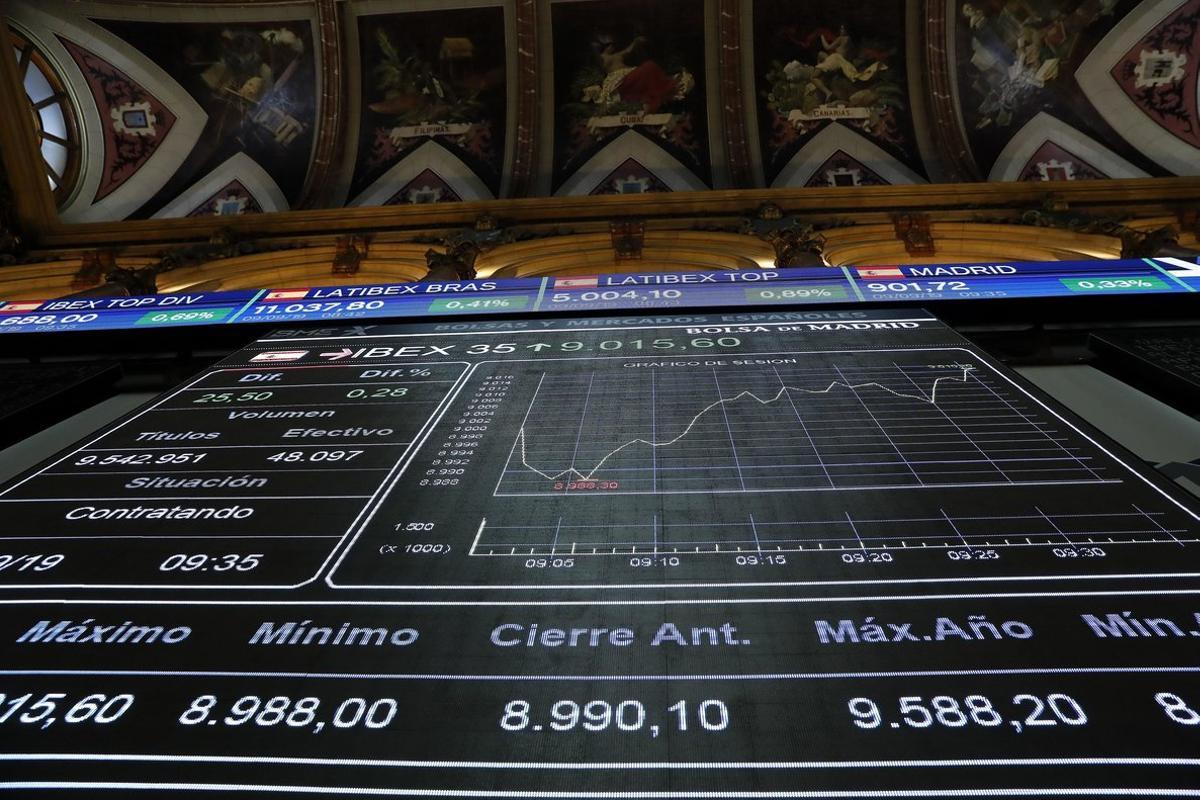 La Bolsa de Madrid, este lunes.