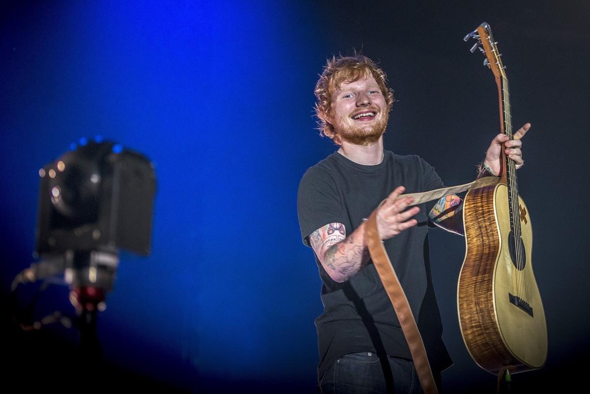 Ed Sheeran, en unconcierto en el Sant Jordi Club de Barcelona.