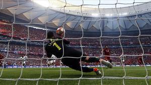 Salah marca el segon gol més ràpid de les finals de la Champions