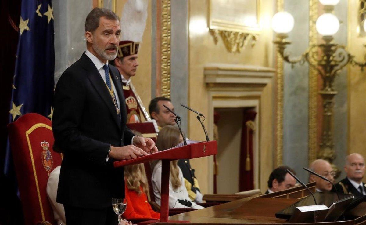 El rey Felipe VI, en el Congreso.