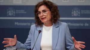 La ministra de Hacienda, María Jesús Montero, en la rueda de prensa posterior al Consejo de Política Fiscal y Financiera (CPFF).