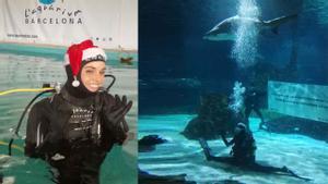 Ona Carbonell, entre tiburones, nos felicita la Navidad y se prepara para lograr más medallas.