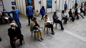 Centro de vacunación contra el covid en la ciudad francesa de Niza.