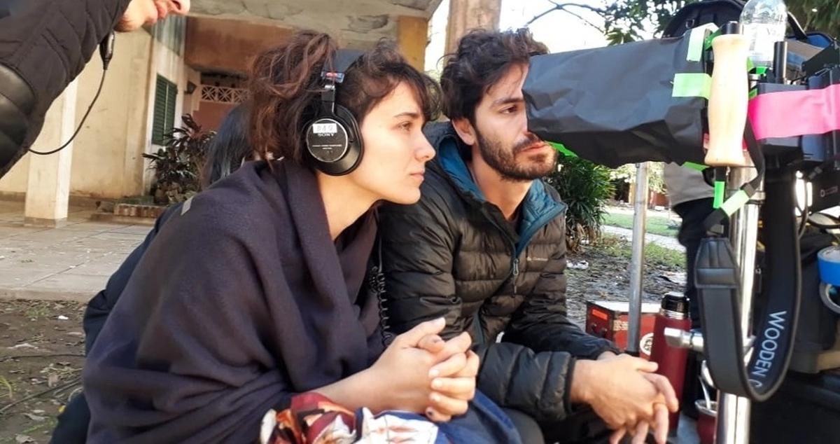 La directora, Clarisa Navas, durante el rodaje de 'Las mil y una'.