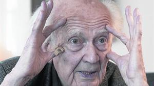 Zygmunt Bauman, con los ojos bien abiertos, el pasado jueves, en Madrid.