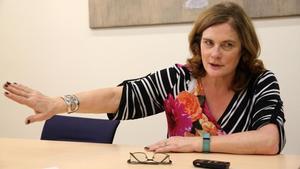 Jane Suiton, durante la entrevista.