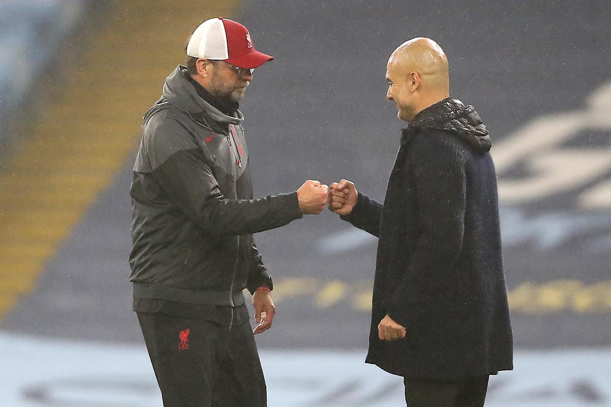 Klopp y Guardiola.