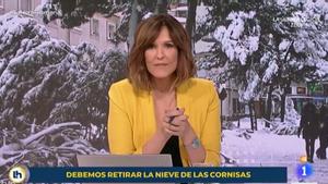 Mónica López torna al plató d''El tiempo': 'La hora de La 1', des de Torrespaña al no arribar a Prado del Rey