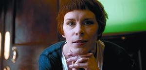 Actriu i novel·lista 8 Tana French, dimecres passat al bar-biblioteca del Central Hotel de Dublín.