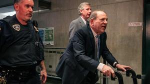 Harvey Weinstein, este lunes a su llegada al juzgado.