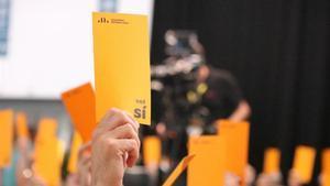 Votación de la ponencia política de la conferencia nacional de ERC