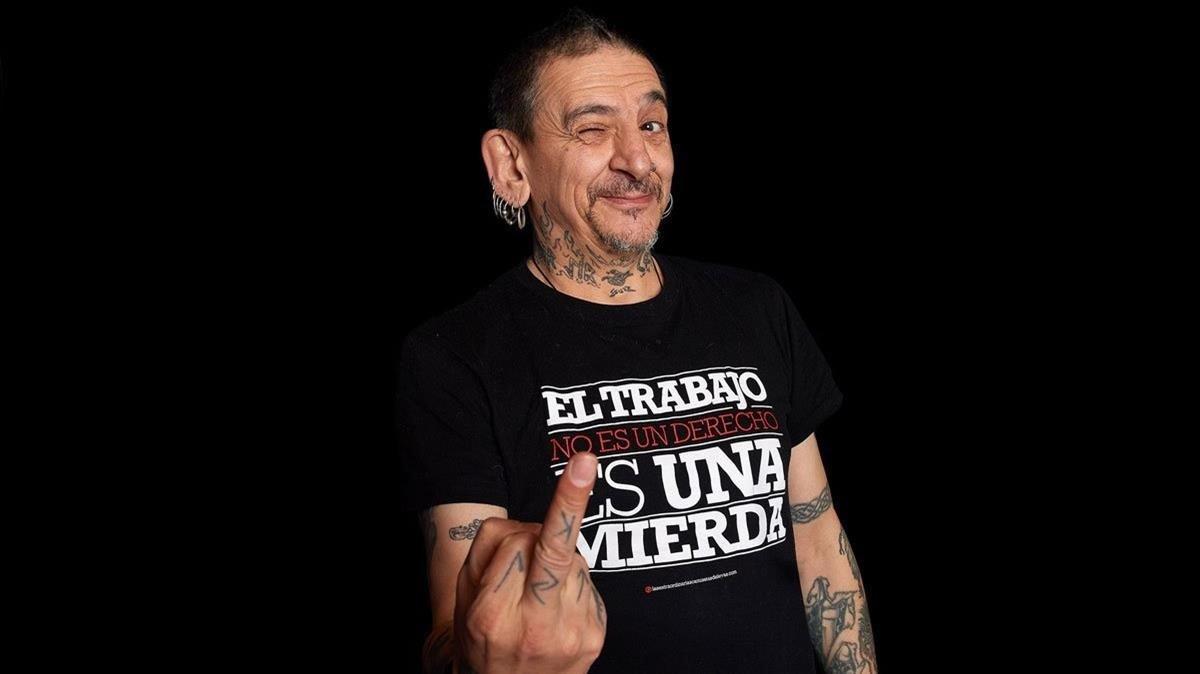 Evaristo Páramos, cantante de La Polla Records.
