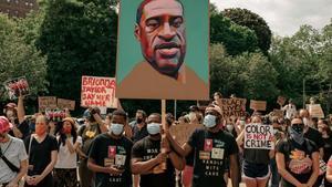 Manifestación antirracista enBrooklyn, Nueva York, el 4 de junio.