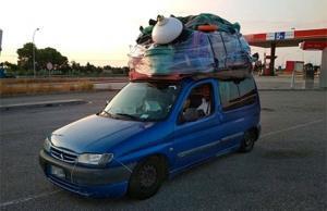 Vehículo inmovilizado por los Mossos en Amposta por exceso de peso.
