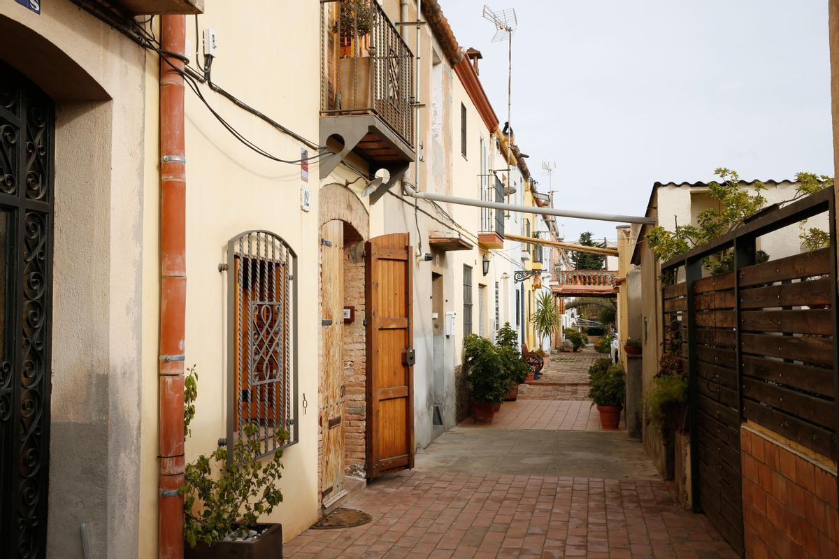 La calle de Aiguafreda, en Horta, esta semana.