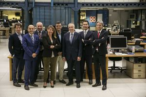En la foto, de izquierda a derecha, José Miguel Masiques, Javier Malaver,Jordi Serret (de Cilgroup), Blanca Sorigué, Jaume Bonavia, Pere Navarro, Massimo Marsili y Javier Pagés.