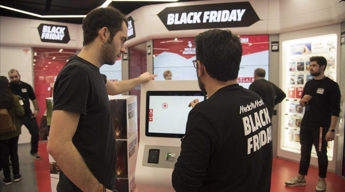 Black Friday en una tienda de Barcelona.