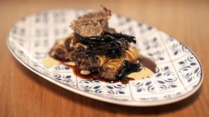 Los 'rigatoni' con liebre y trufa del restaurante Maleducat.