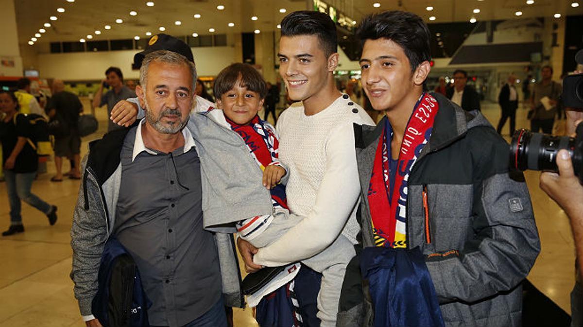 Osama Abdul Mohsen, a su llegada a la estación de Sants de Barcelona