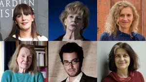 Los escritores Dolores Redondo, Edna O'Brien, Delphine de Vigan, Annie Ernaux, Jonathan Safran Foer y Rosa Ribas.