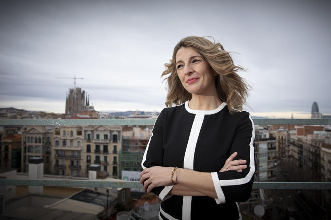Entrevista a la ministra Yolanda Díaz en Barcelona