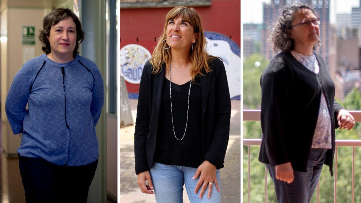María Rosa Monreal, Sonia Baceiredo y Encarna Roldán